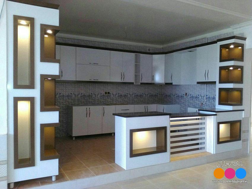 آشپزخانه حجمی سفید شکلاتی 2