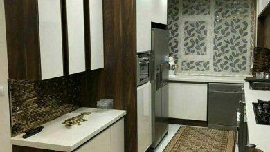 Photo of عکس کابینت سفید طرح چوب بدون دستگیره ایرانی جدید