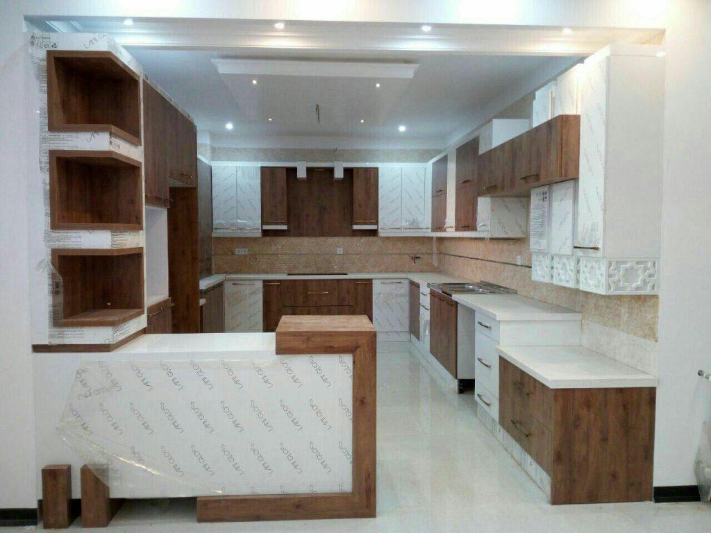 کابینت مدرن گردویی سفید ایرانی