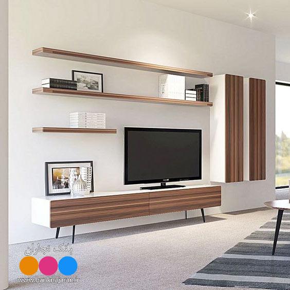 میز تلویزیون مدرن در دو رنگ
