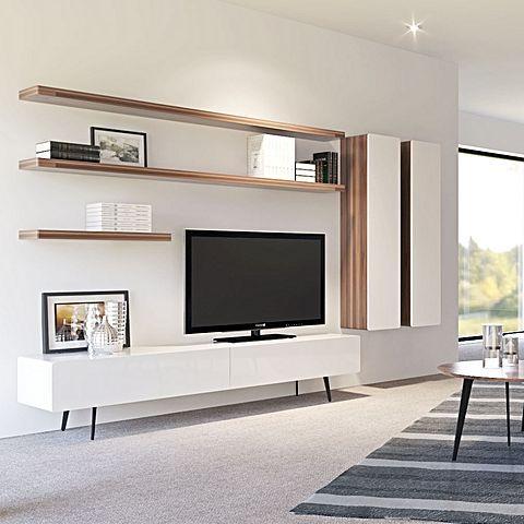 میز تلویزیون مدرن در دو رنگ عکس دوم