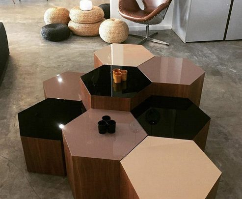 Photo of میز و میز عسلی به سبک شش ضلعی و کاملا خاص و مدرن