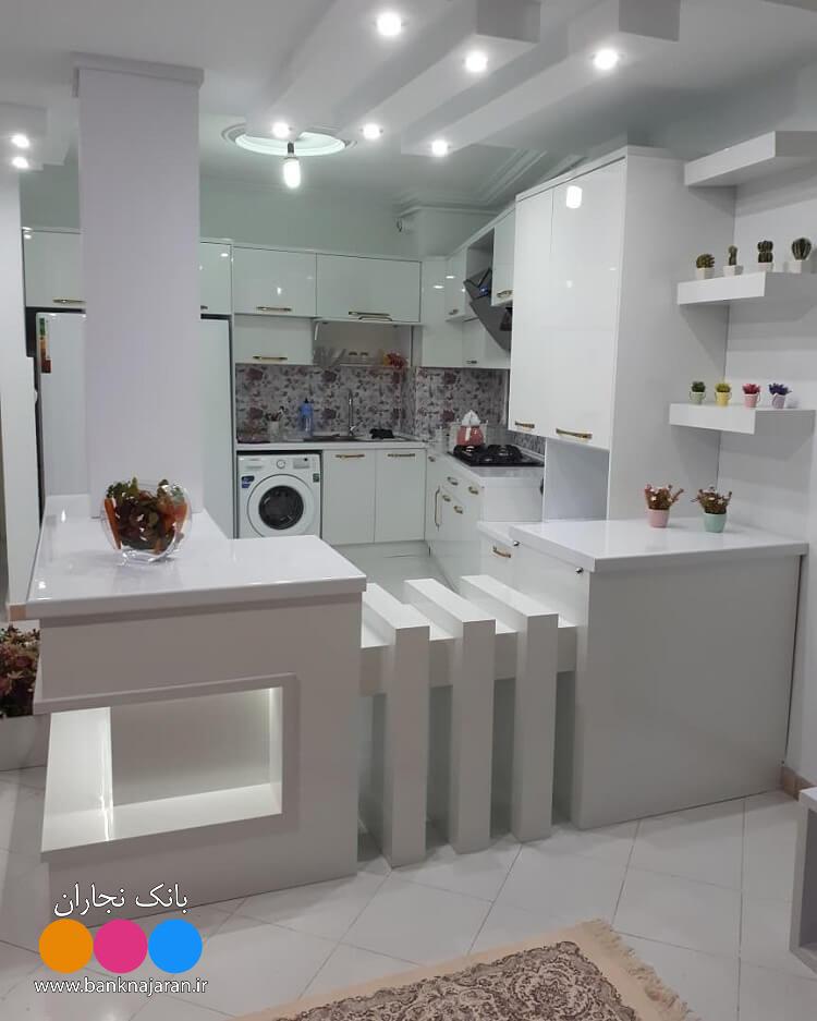 4عکس از آشپزخانه با کابینت مدرن