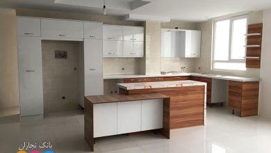 Photo of 2 عکس از کابینت مدرن ایرانی با ترکیب رنگی سفید و طرح چوب