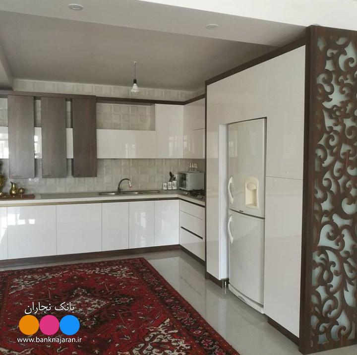 عکس کابینت آشپزخانه مدرن حجمی ایرانی 2