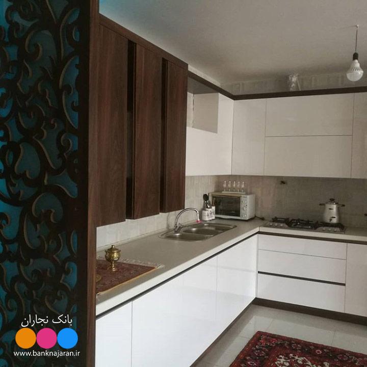 عکس کابینت آشپزخانه مدرن حجمی ایرانی 4