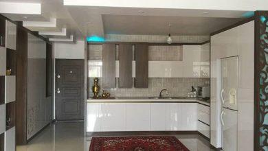Photo of عکس کابینت آشپزخانه مدرن حجمی ایرانی با دستگیره مخفی