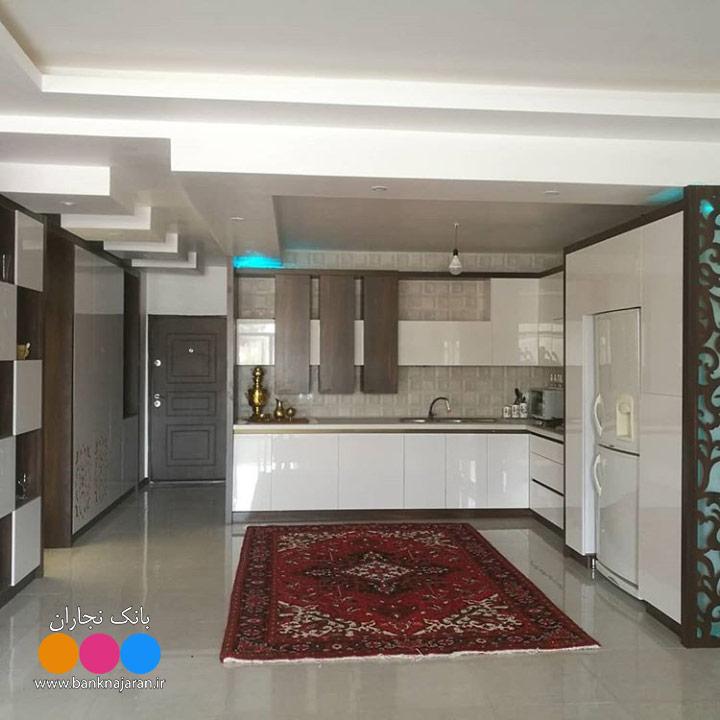 عکس کابینت آشپزخانه مدرن حجمی ایرانی