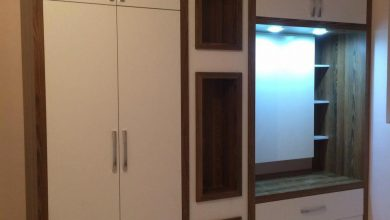 Photo of 2 عدد کمد دیواری سفید طرح چوب برای یک آپارتمان