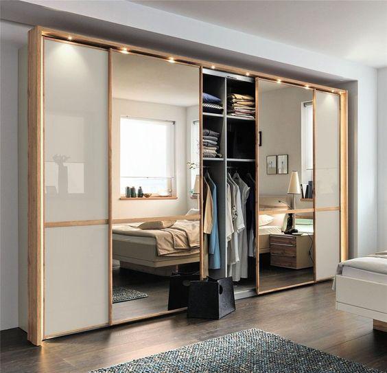 6 مدل کمد دیواری مدرن با آینه 2