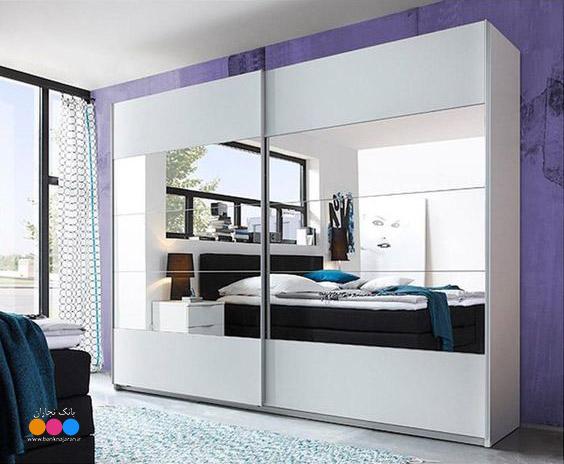 6 مدل کمد دیواری مدرن با آینه 3
