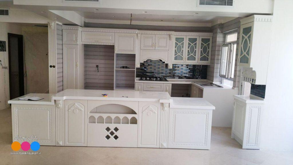 مدل کابینت آشپزخانه ممبران سفید