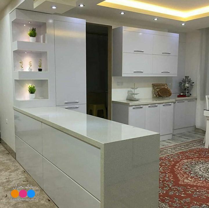 آشپزخانه نما سفید ایرانی