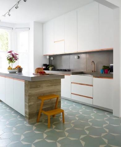 سرامیک طرحدار کف آشپزخانه