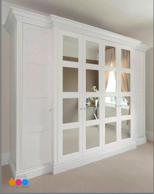 5 مدل کمد دیواری چوبی سفید جدید 2