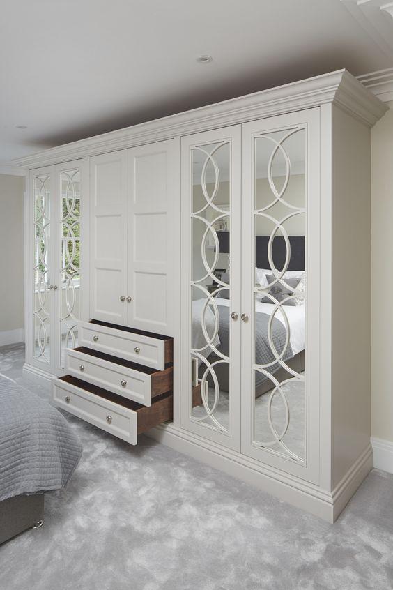 5 مدل کمد دیواری چوبی سفید جدید 3