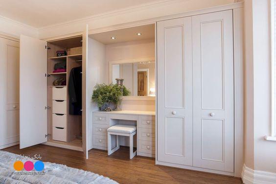 5 مدل کمد دیواری چوبی سفید جدید 4