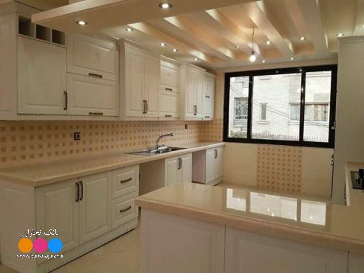 مدل کابینت آشپزخانه ممبران سفید ایرانی 2