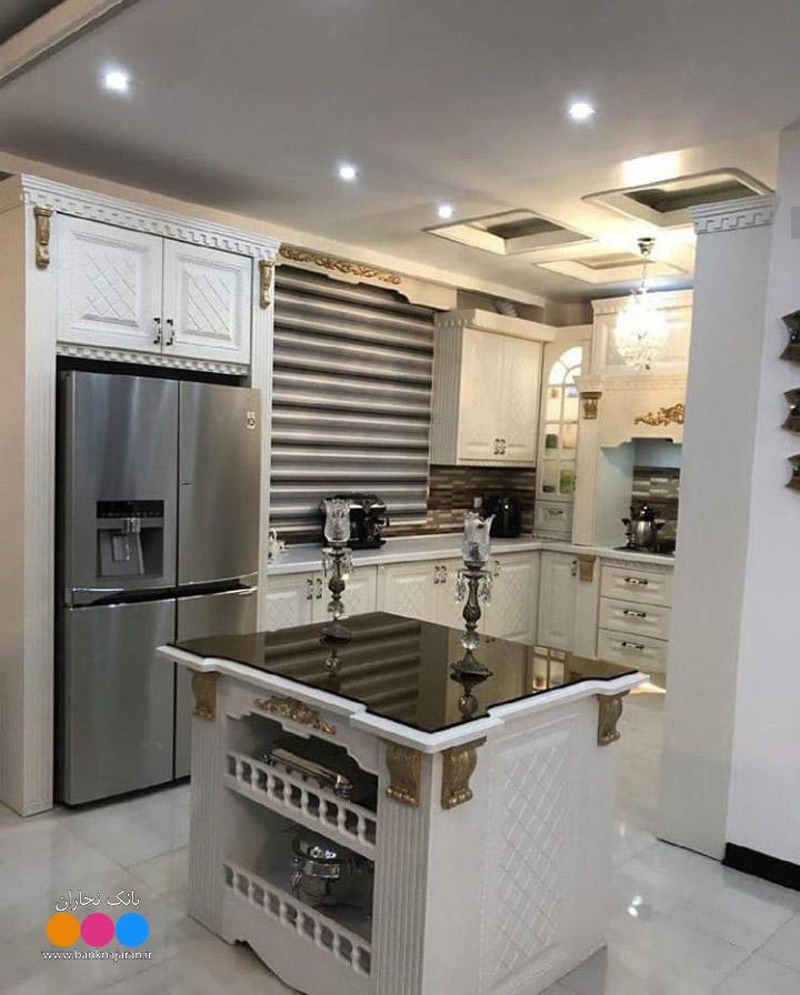 آشپزخانه کوچک ایرانی با کابینت ممبران