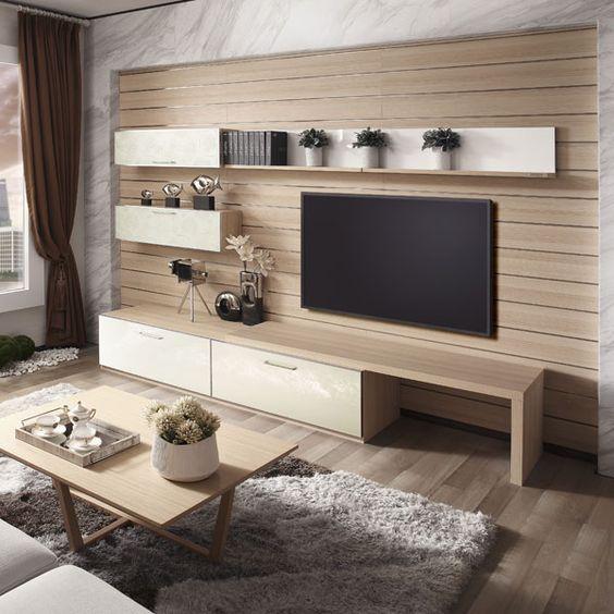 7 مدل میز تلویزیون مدرن دیواری 2