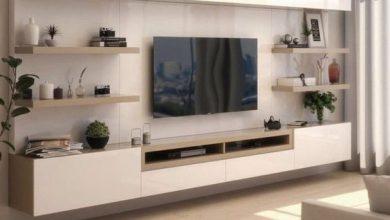 Photo of 7 مدل میز تلویزیون مدرن دیواری در رنگ های دیدنی