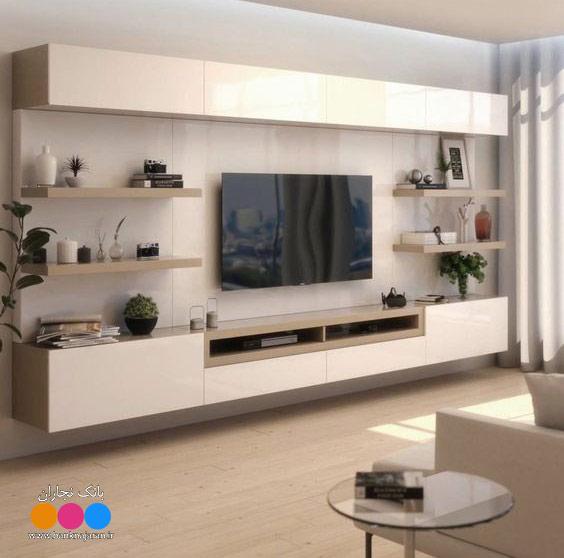 7 مدل میز تلویزیون مدرن دیواری 3