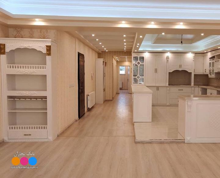 آشپزخانه ایرانی با کابینت سفید ممبران