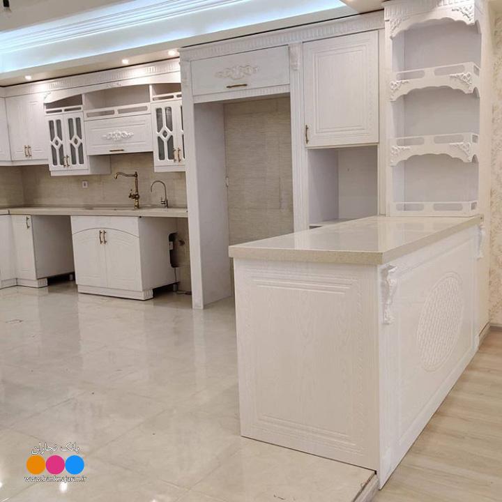 آشپزخانه ایرانی با کابینت سفید ممبران 3