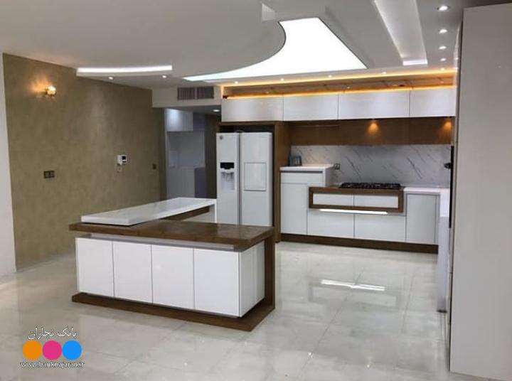 کابینت آشپزخانه سفید شکلاتی های گلاس 2
