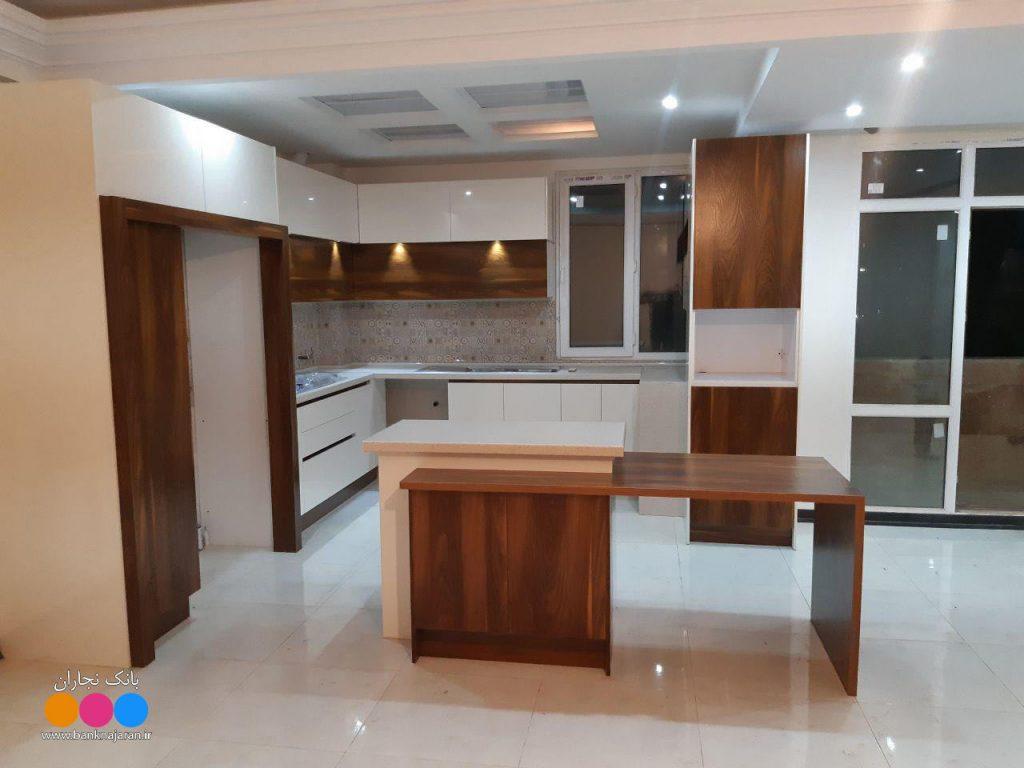 آشپزخانه کوچک با کابینت ایرانی مدرن