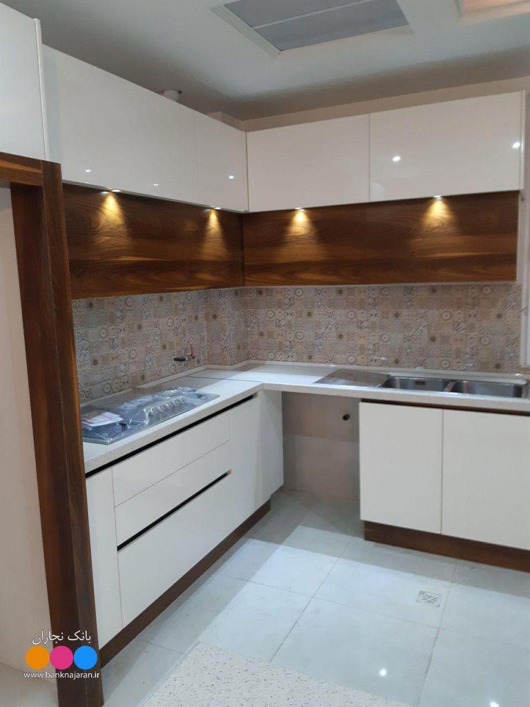 آشپزخانه کوچک با کابینت ایرانی مدرن 2