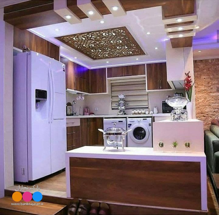 آشپزخانه کوچک ایرانی با کابینت مدرن