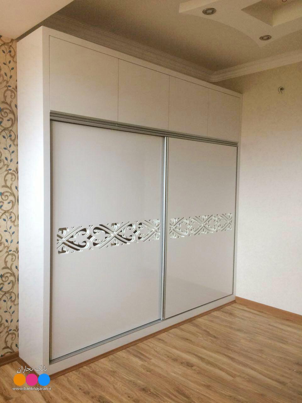 دو مدل کمد دیواری سفید های گلاس 2