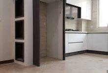 Photo of کابینت آشپزخانه ایرانی با ام دی اف هایگلاس سفید و مشکی