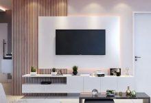 Photo of 4 مدل میز تلویزیون مدرن دیواری با رنگ بندی منحصر به فرد