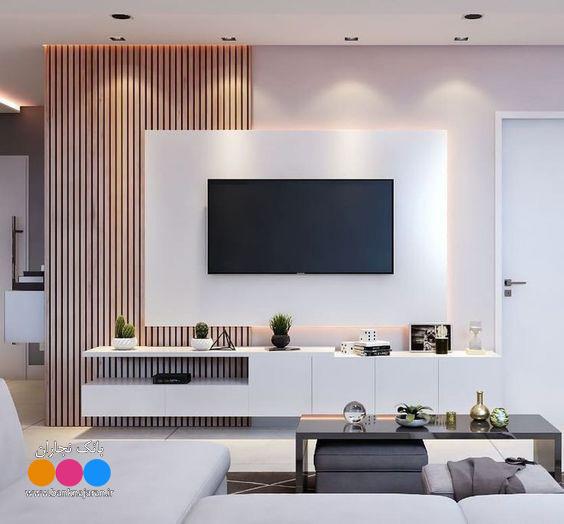 4 مدل میز تلویزیون مدرن دیواری