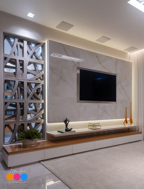 4 مدل میز تلویزیون مدرن دیواری 2