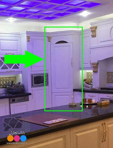 کمد مخفی در آشپزخانه