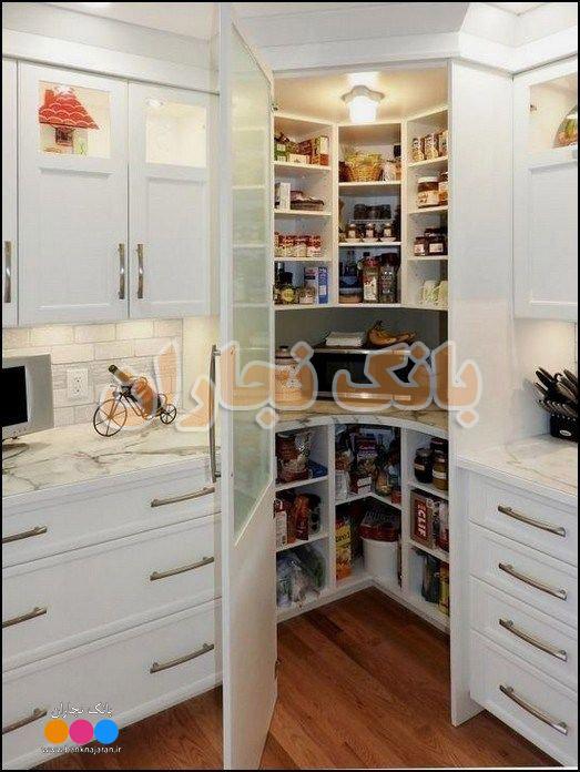 فضای کمد داخل آشپزخانه