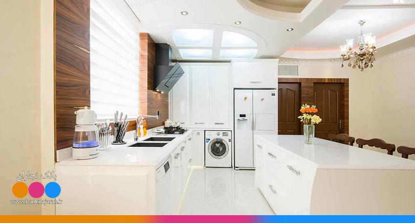 آشپزخانه با کابینت انزو