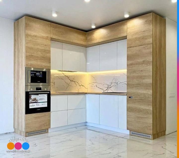 کابینت آشپزخانه کوچک سفید هایگلاس 1