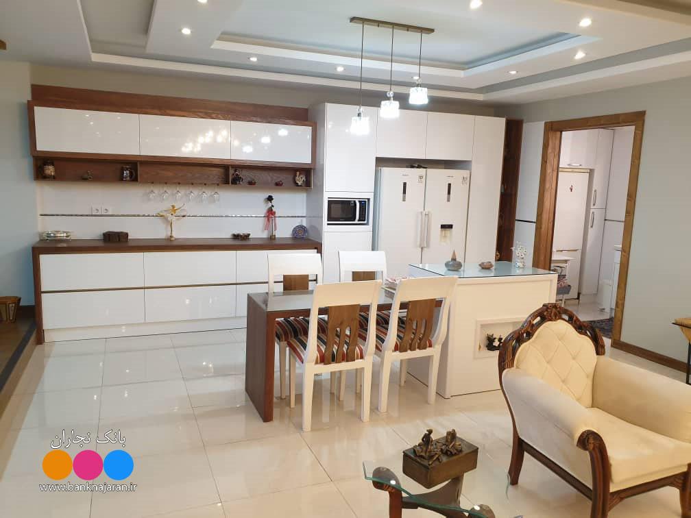 کابینت آشپزخانه مدرن دو رنگ