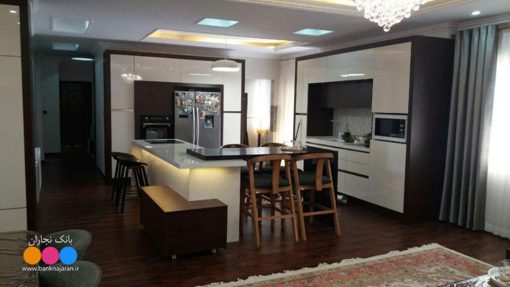 آشپزخانه مدرن با هایگلاس agt