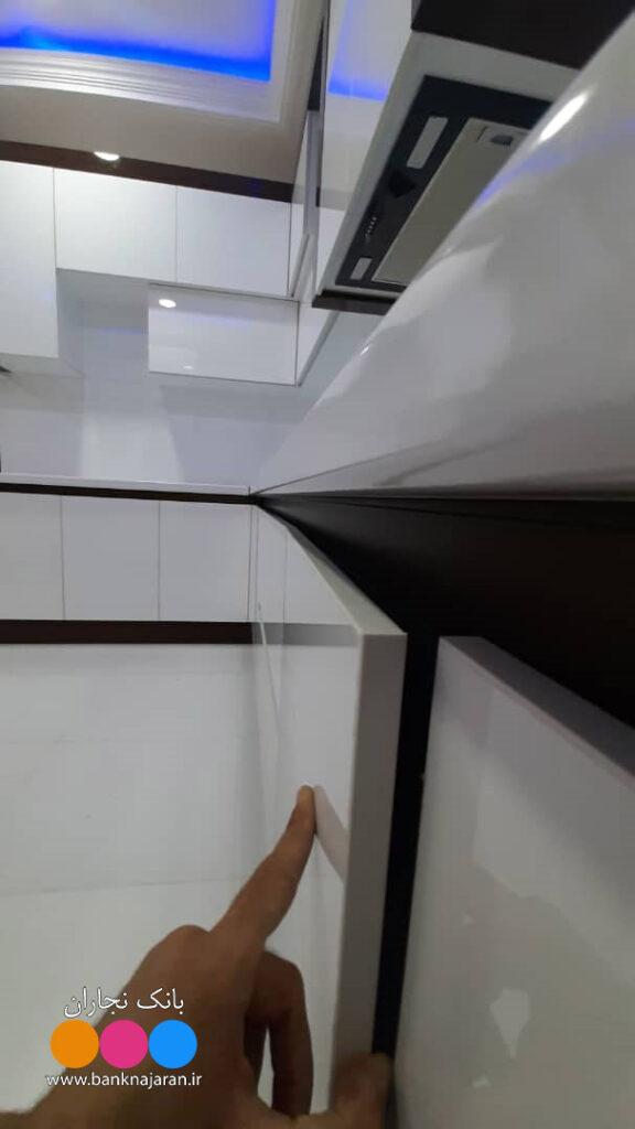 دستگیره مخفی مشکی کابینت
