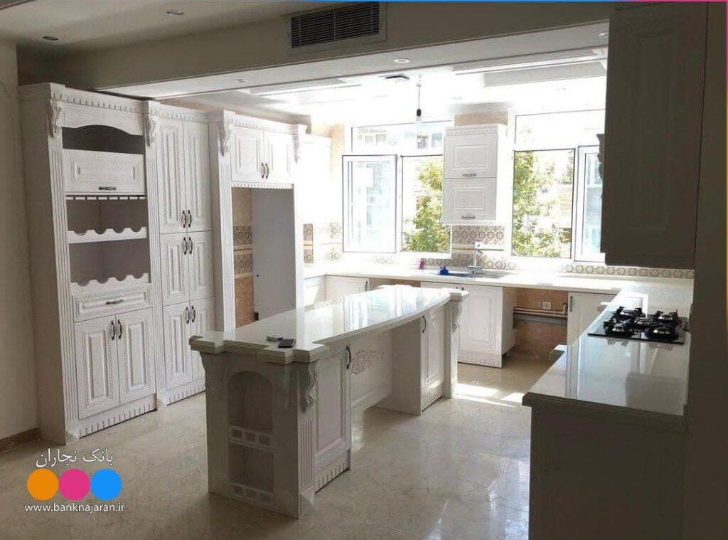 آشپزخانه ایرانی با کابینت ممبران زیبا