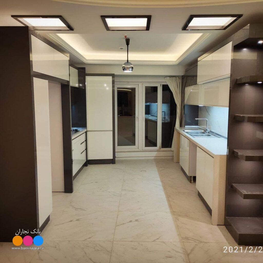 آشپزخانه ایرانی با هایگلاس تیتانیوم 2
