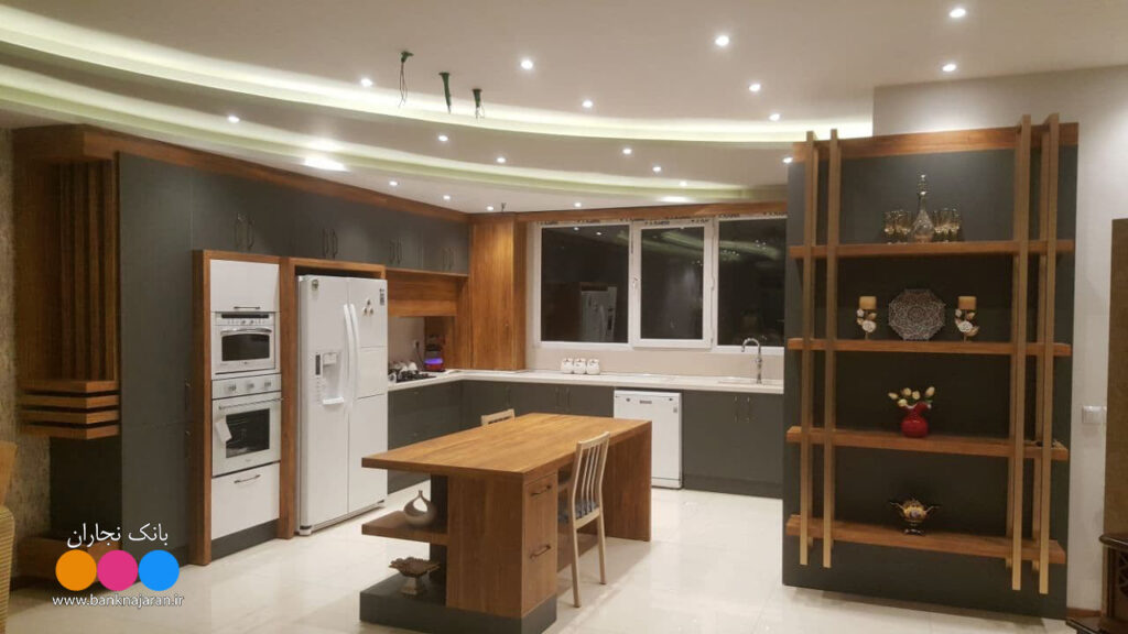 آشپزخانه ایرانی طوسی طلائی