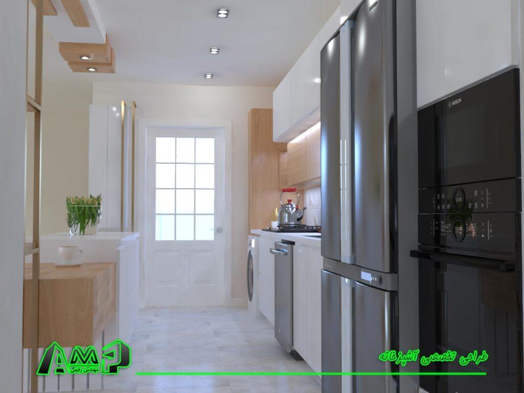 تصویر سه بعدی آشپزخانه