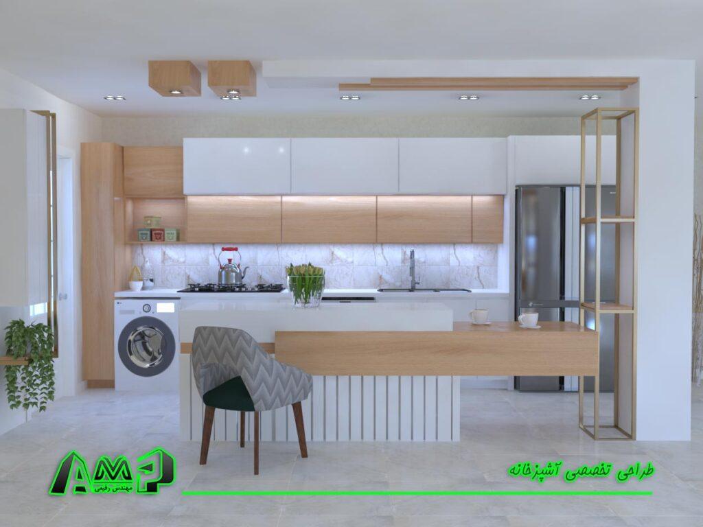 رندرینگ آشپزخانه