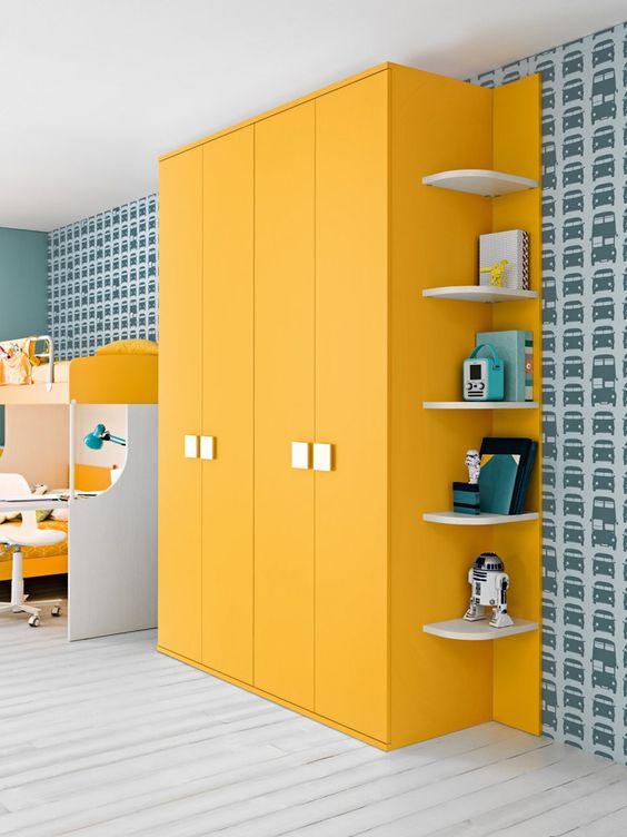 5 مدل کمد دیواری رنگی 2